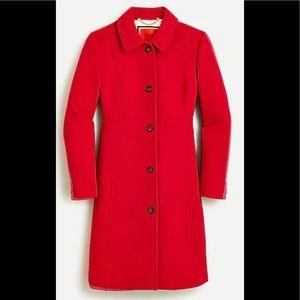 J Crew Petite Classic Lady Coat Italian Wool, NWT